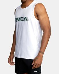 1 VA Sport   Sport Vent Big RVCA Speed Performance Sport Tank Top White AVYKT00181 RVCA