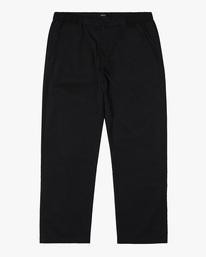 0 Curren Trouser Pant Black AVYNP00110 RVCA