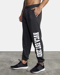 3 Heavyweight Sweatpant Black AVYNP00113 RVCA