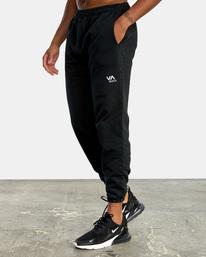 3 VA Essential Sweatpant Black AVYNP00116 RVCA