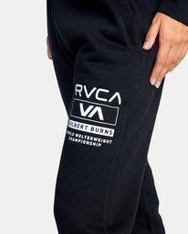 4 Gilbert Burns | VA Sport x Gilbert Burns Workout Sweatpants Black AVYNP00141 RVCA