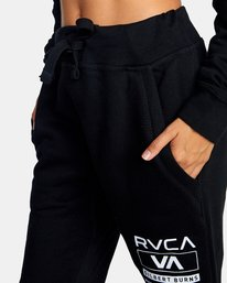 9 Gilbert Burns | VA Sport x Gilbert Burns Workout Sweatpants Black AVYNP00141 RVCA
