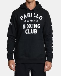1 Parillo Boxing Club Pullover Sweatshirt Black AVYSF00105 RVCA