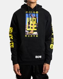 0 BRUCE LEE AS YOU THINK PULLOVER HOODIE Black AVYSF00108 RVCA