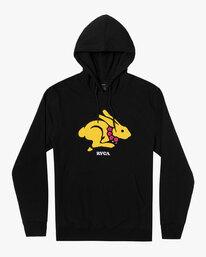 0 Evan Mock | Rabbit Pullover Hoodie Black AVYSF00119 RVCA