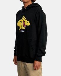 4 Evan Mock | Rabbit Pullover Hoodie Black AVYSF00119 RVCA