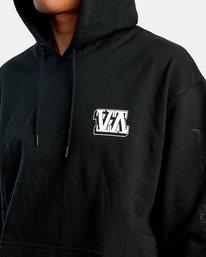 4 Defer   Block Fleece Hoodie Black AVYSF00122 RVCA