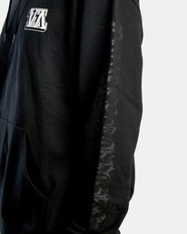 8 Defer   Block Fleece Hoodie Black AVYSF00122 RVCA