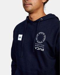 3 VA MARK Sport HOODIE Blue AVYSF00124 RVCA