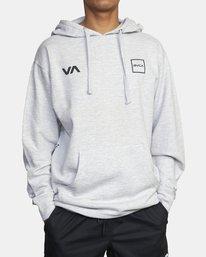 0 RVCA LANE Sport HOODIE Grey AVYSF00125 RVCA