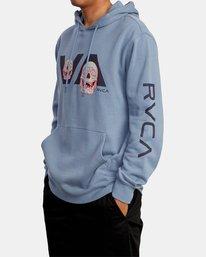 4 Skully D Hoodie Grey AVYSF00131 RVCA