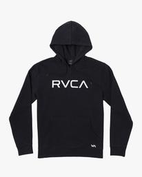 0 Big RVCA Hoodie Black AVYSF00143 RVCA