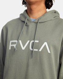 3 Big RVCA Hoodie Green AVYSF00143 RVCA
