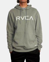 1 Big RVCA Hoodie Green AVYSF00143 RVCA