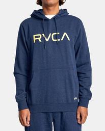 1 Big RVCA Hoodie Blue AVYSF00143 RVCA