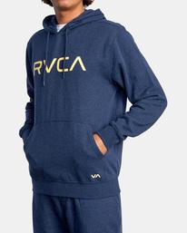 4 Big RVCA Hoodie Blue AVYSF00143 RVCA