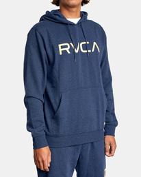 5 Big RVCA Hoodie Blue AVYSF00143 RVCA