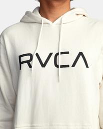 3 Big RVCA Hoodie Silver AVYSF00143 RVCA