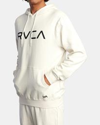 4 Big RVCA Hoodie Silver AVYSF00143 RVCA