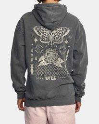 3 Jesse Brown Hoodie Black AVYSF00145 RVCA