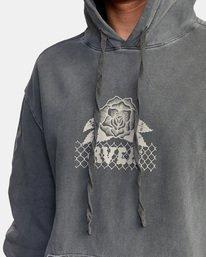 7 Jesse Brown Hoodie Black AVYSF00145 RVCA
