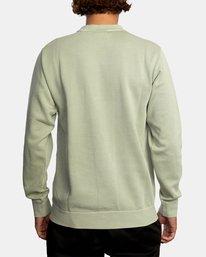 1 Tonally Crewneck Sweatshirt Green AVYSF00153 RVCA