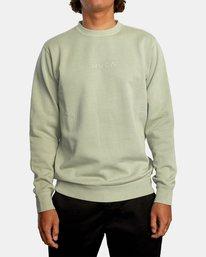 0 Tonally Crewneck Sweatshirt Green AVYSF00153 RVCA
