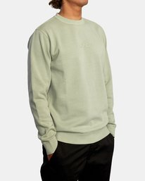 4 Tonally Crewneck Sweatshirt Green AVYSF00153 RVCA