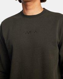 6 Tonally Crewneck Sweatshirt Black AVYSF00153 RVCA