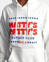 2 Matty Matheson | Matty's Patty's Burger Club Hoodie White AVYSF00177 RVCA