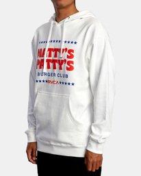 3 Matty Matheson | Matty's Patty's Burger Club Hoodie White AVYSF00177 RVCA