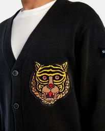 3 Matt Leines | Leines Varsity Cardigan Sweater Orange AVYSW00113 RVCA