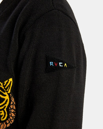 6 Matt Leines | Leines Varsity Cardigan Sweater Orange AVYSW00113 RVCA