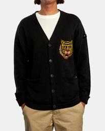 1 Matt Leines | Leines Varsity Cardigan Sweater Orange AVYSW00113 RVCA