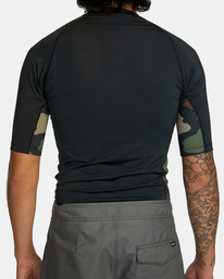 2 Island Hex Short Sleeve Rashguard Black AVYWR00103 RVCA