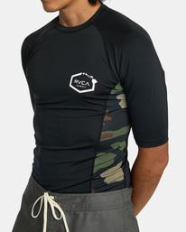 4 Island Hex Short Sleeve Rashguard Black AVYWR00103 RVCA