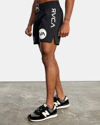"3 Thai Training Workout Shorts 18"" Black AVYWS00125 RVCA"