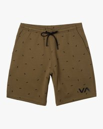 "0 VA SPORT IV 19"" SWEAT SHORT Brown AVYWS00135 RVCA"