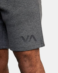 """3 VA SPORT IV SWEAT SHORT 19"""" Grey AVYWS00135 RVCA"""