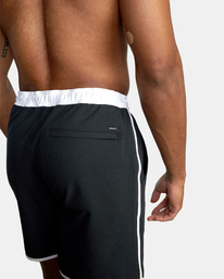 "7 Yogger Hybrid Athletic Shorts 17"" Black AVYWS00144 RVCA"
