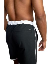 "6 Yogger Hybrid Athletic Shorts 17"" Black AVYWS00144 RVCA"