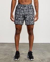 "2 Defer | VA Sport Yogger Stretch Athletic Shorts 17"" White AVYWS00145 RVCA"