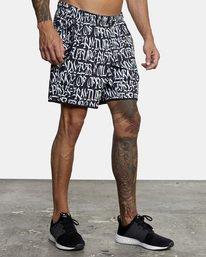 "7 Defer | VA Sport Yogger Stretch Athletic Shorts 17"" White AVYWS00145 RVCA"