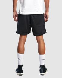 "2 Matty Matheson | Matty Mesh Elastic Shorts 16"" Black AVYWS00146 RVCA"