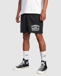 "4 Matty Matheson | Matty Mesh Elastic Shorts 16"" Black AVYWS00146 RVCA"