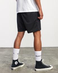 "6 Matty Matheson | Matty Mesh Elastic Shorts 16"" Black AVYWS00146 RVCA"