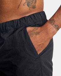 "11 Outsider Packable Elastic Shorts 17"" Black AVYWS00147 RVCA"