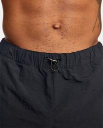 "14 Outsider Packable Elastic Shorts 17"" Black AVYWS00147 RVCA"