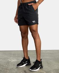 "3 Outsider Packable Elastic Shorts 17"" Black AVYWS00147 RVCA"