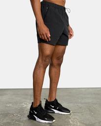 "4 Outsider Packable Elastic Shorts 17"" Black AVYWS00147 RVCA"